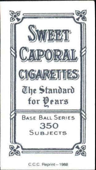 1909-11 T206 #73 Charley Carr ML back image
