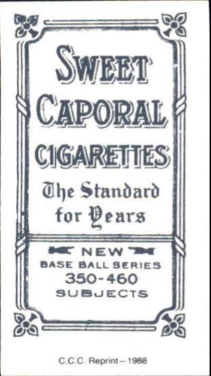 1909-11 T206 #102 Bunk Congalton ML back image