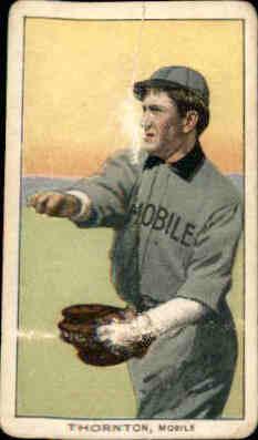 1909-11 T206 #487 Woodie Thornton SL