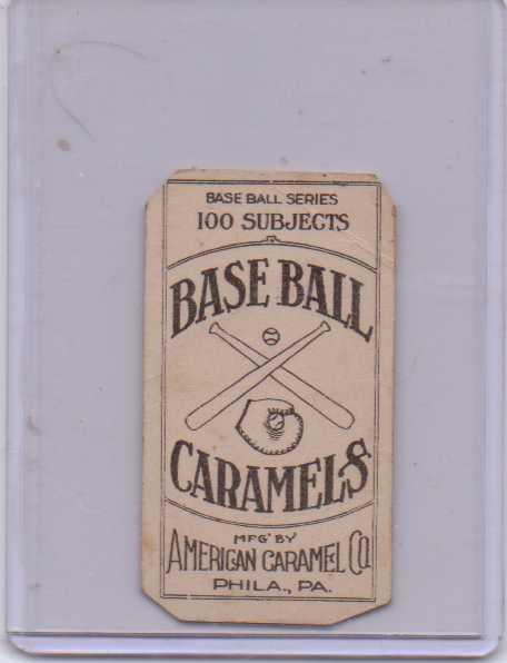 1909-11 American Caramel E90-1 #28 Sam Crawford back image