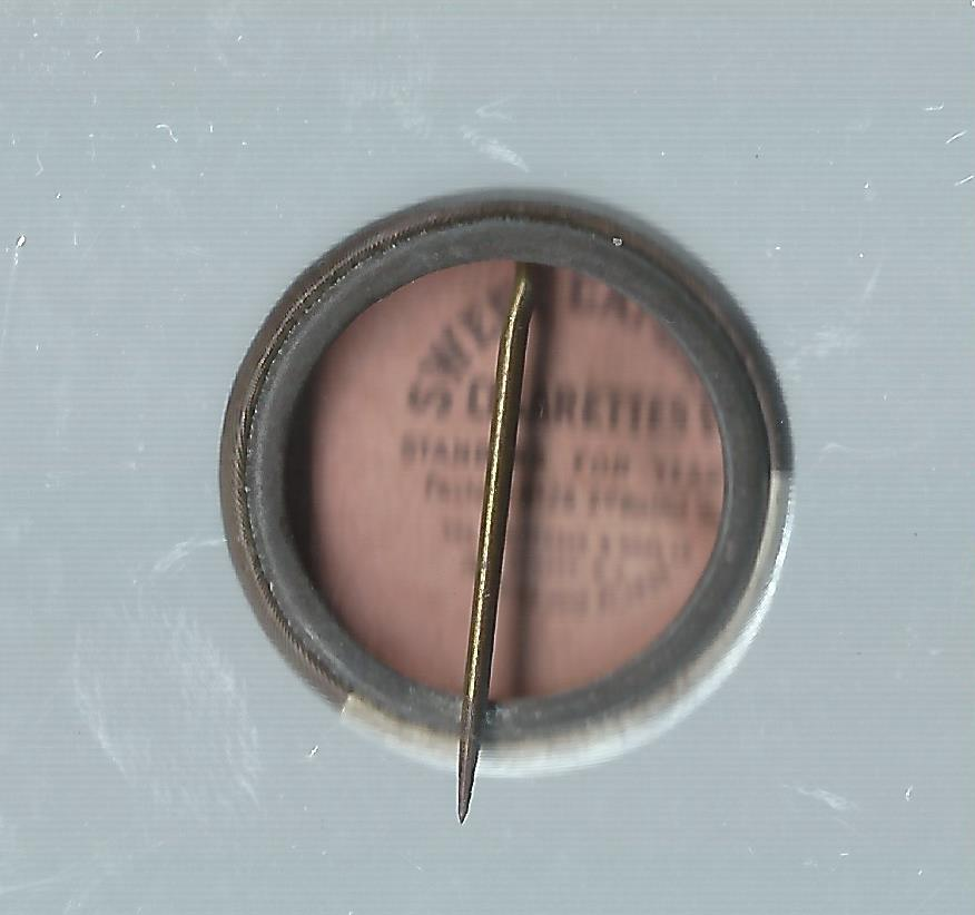 1910-12 Sweet Caporal Pins P2 #49 Johnny Evers back image