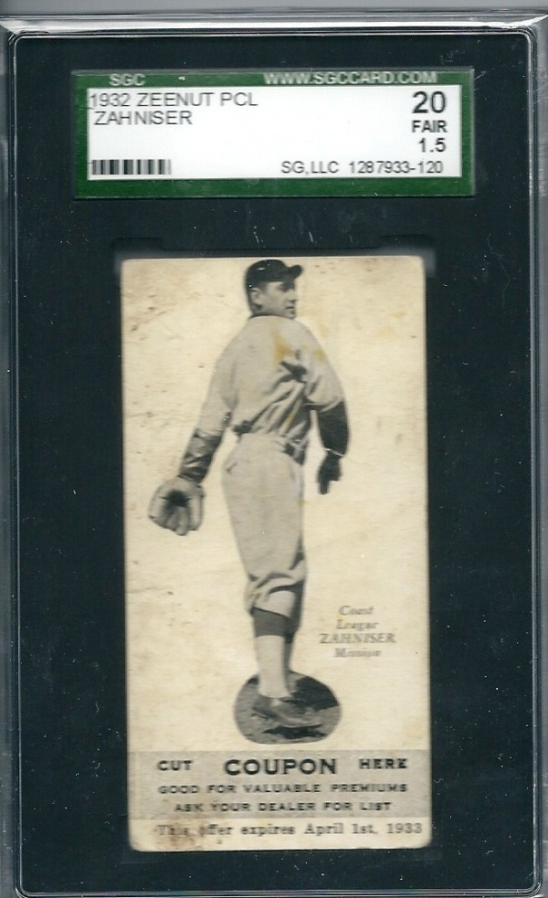 1932 Zeenut #48 Paul Zahniser