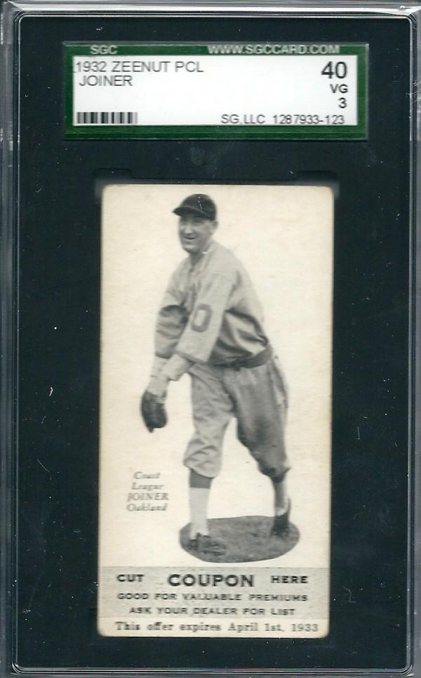 1932 Zeenut #58 Roy Joiner