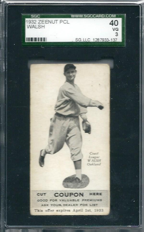 1932 Zeenut #68 Ed Walsh