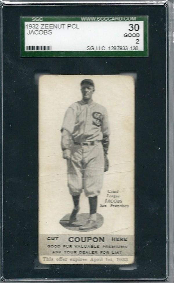 1932 Zeenut #103 Elmer Jacobs
