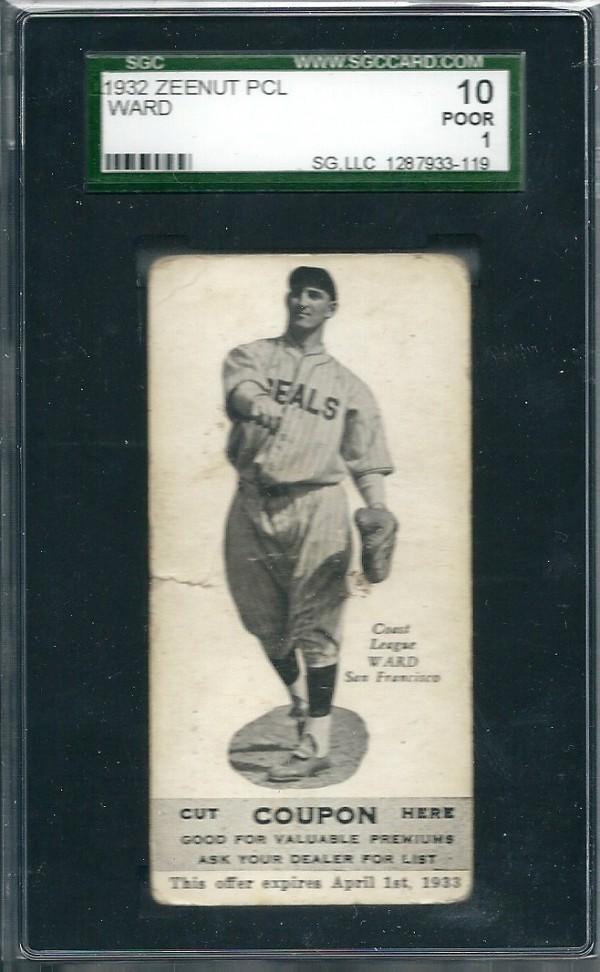 1932 Zeenut #109 Joe Ward