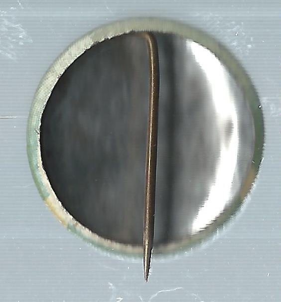 1932-34 Orbit Gum Pins Numbered #6 Kiki Cuyler back image