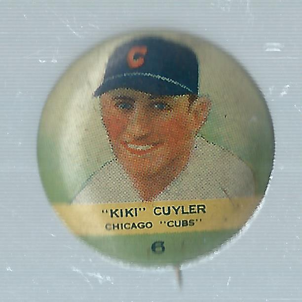 1932-34 Orbit Gum Pins Numbered #6 Kiki Cuyler