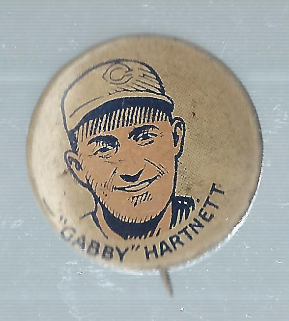 1933 Cracker Jack Pins #13 Gabby Hartnett
