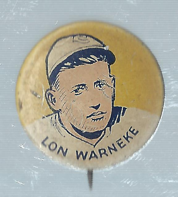 1933 Cracker Jack Pins #25 Lon Warneke