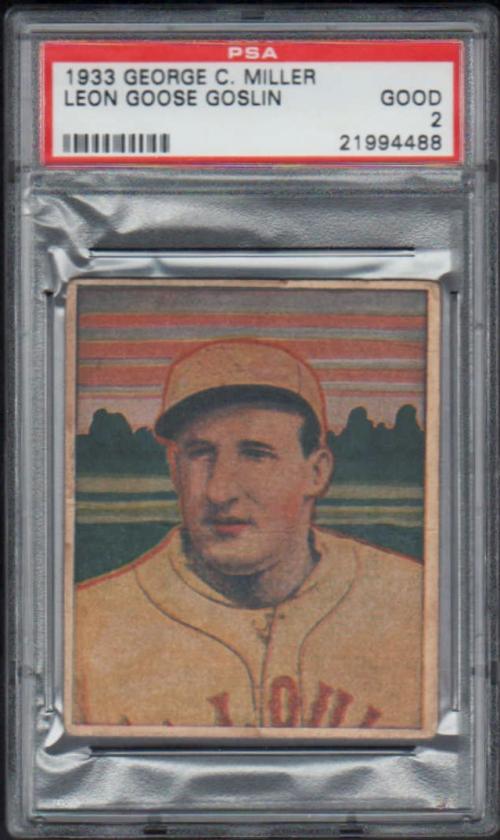 1933 George C. Miller R300 #15 Goose Goslin