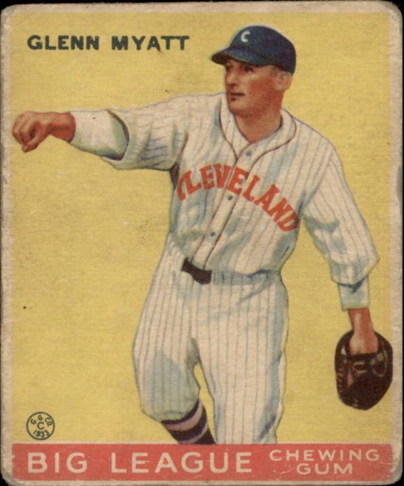 1933 Goudey #10 Glenn Myatt RC