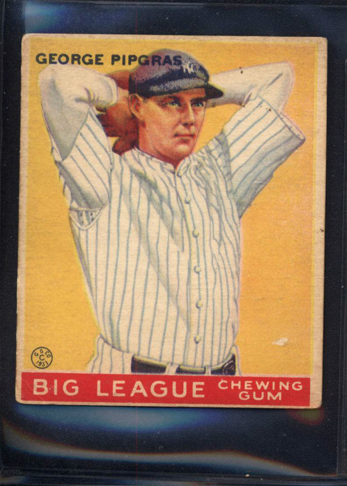 1933 Goudey #12 George Pipgras RC