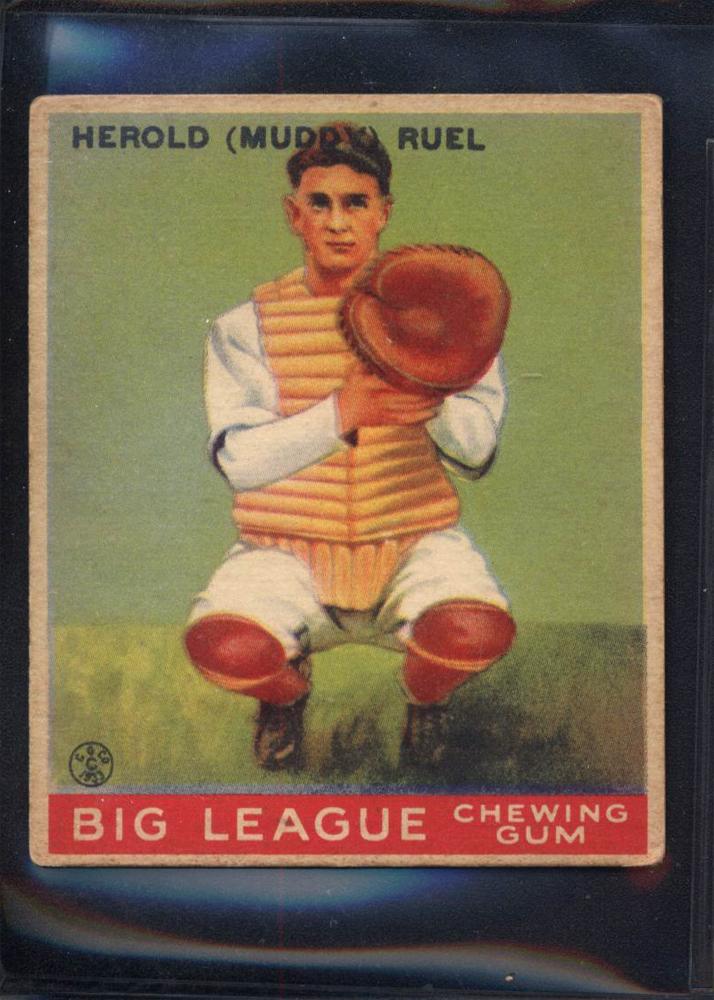 1933 Goudey #18 Muddy Ruel RC