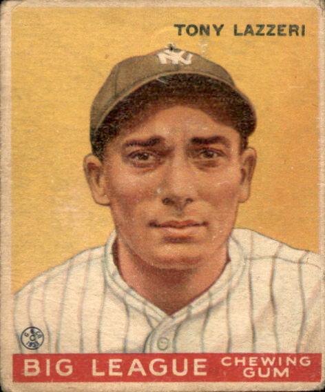 1933 Goudey #31 Tony Lazzeri RC