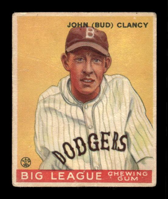 1933 Goudey #32 Bud Clancy RC