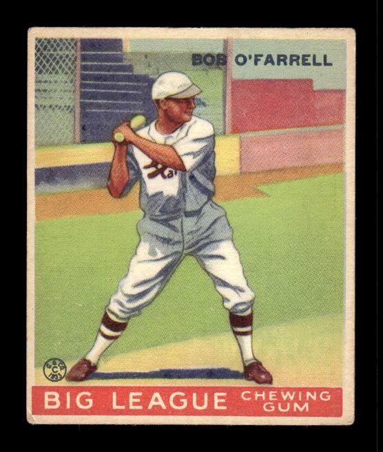 1933 Goudey #34 Bob O'Farrell RC