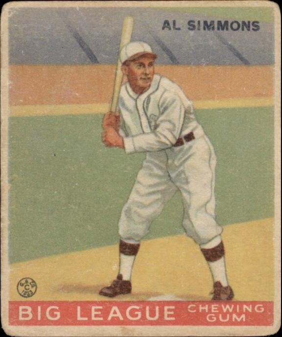 1933 Goudey #35 Al Simmons RC