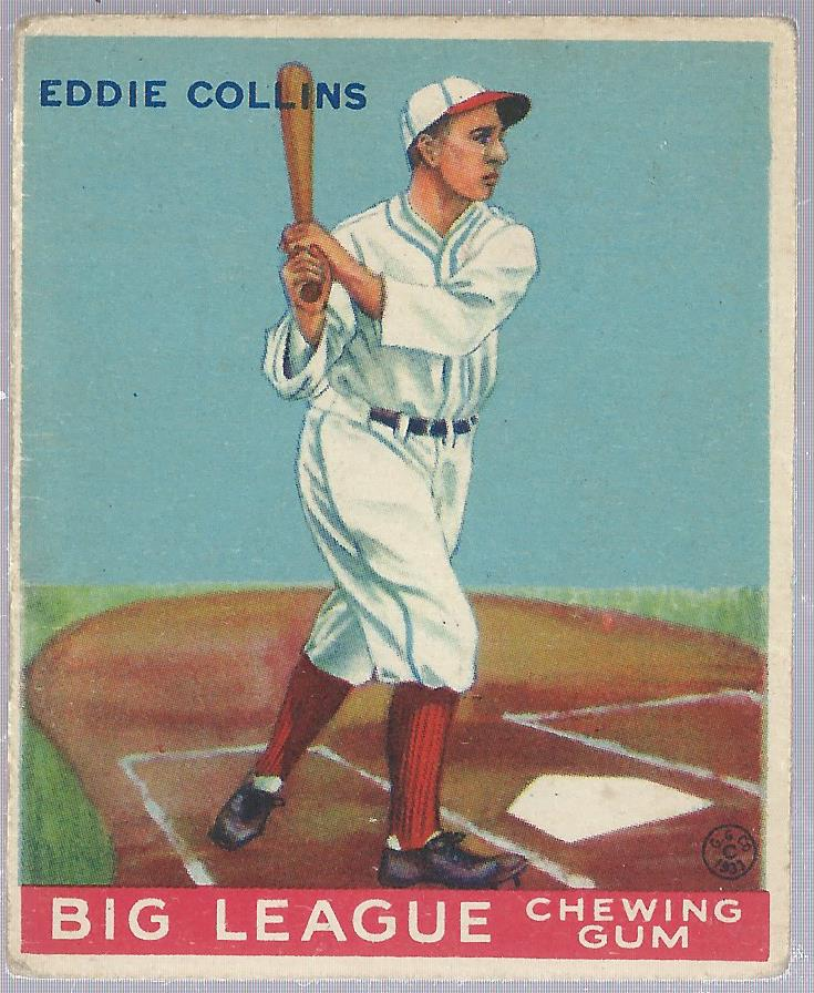 1933 Goudey #42 Eddie Collins RC