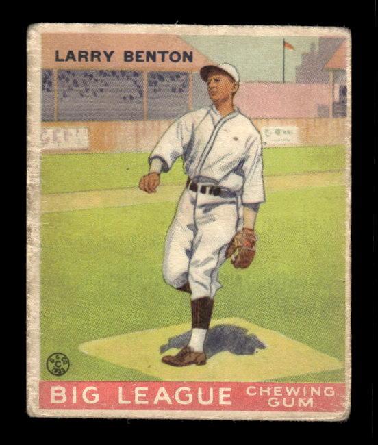 1933 Goudey #45 Larry Benton RC