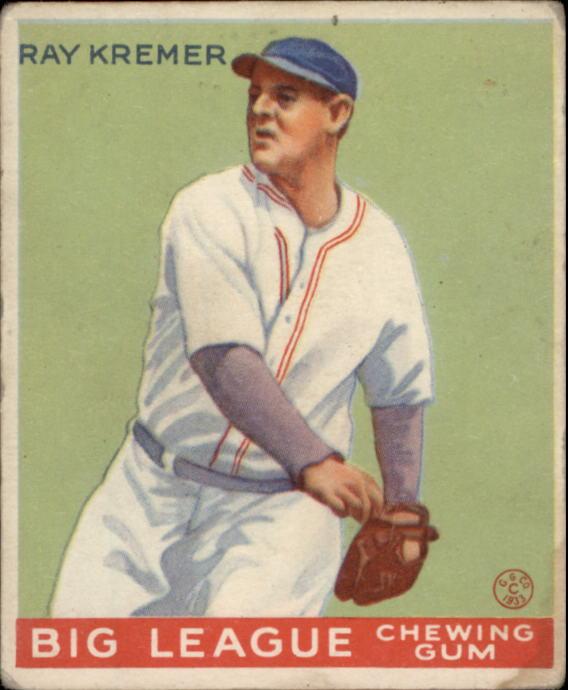 1933 Goudey #54 Ray Kremer RC