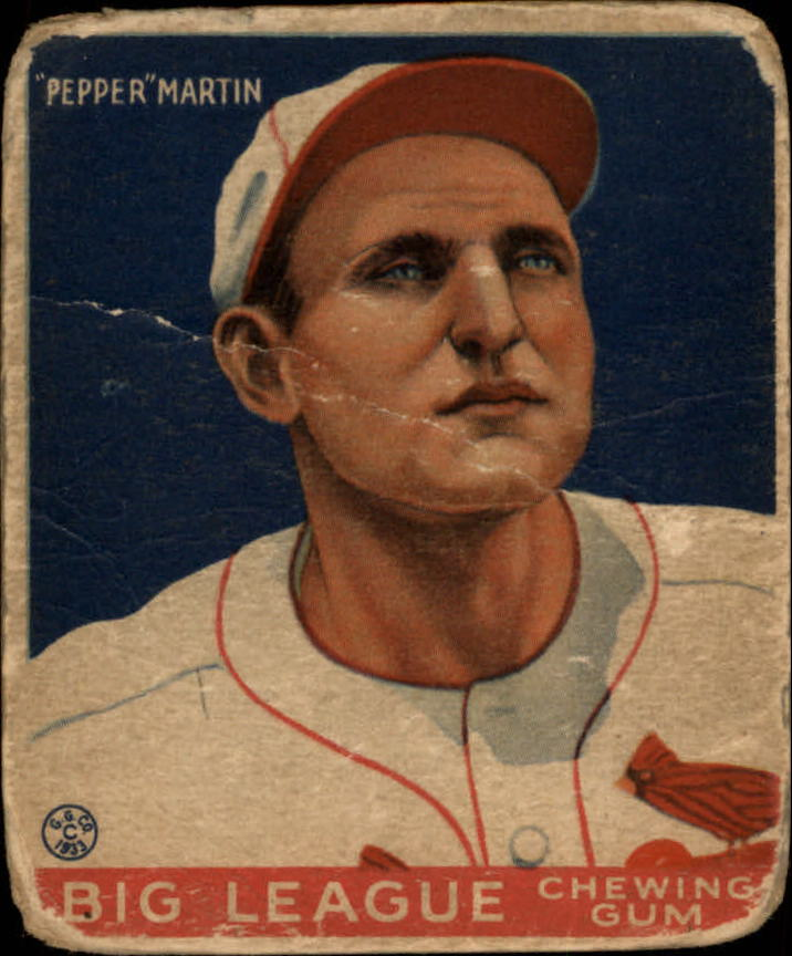 1933 Goudey #62 Pepper Martin RC