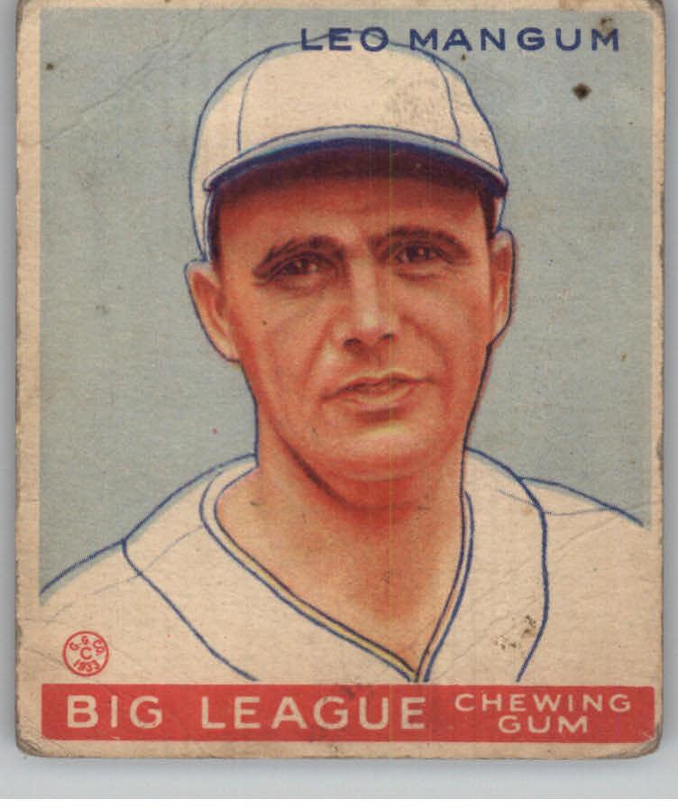 1933 Goudey #162 Leo Mangum RC