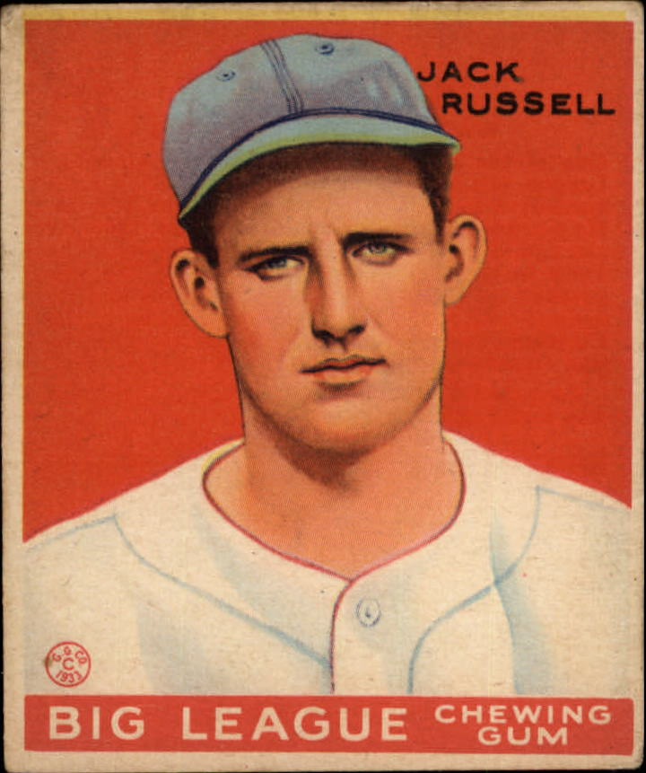 1933 Goudey #167 Jack Russell RC