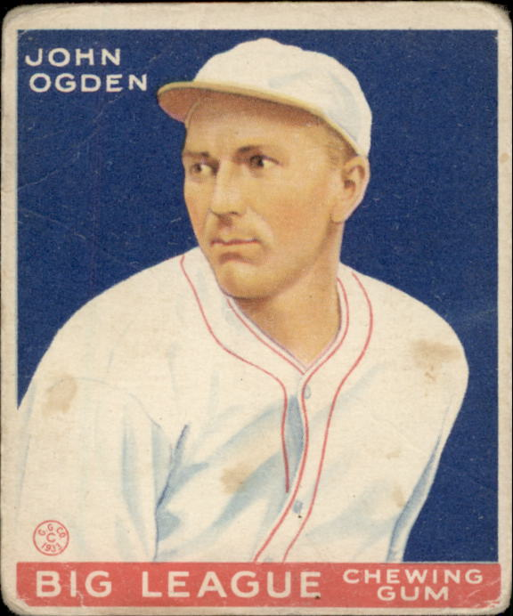 1933 Goudey #176 John Ogden RC