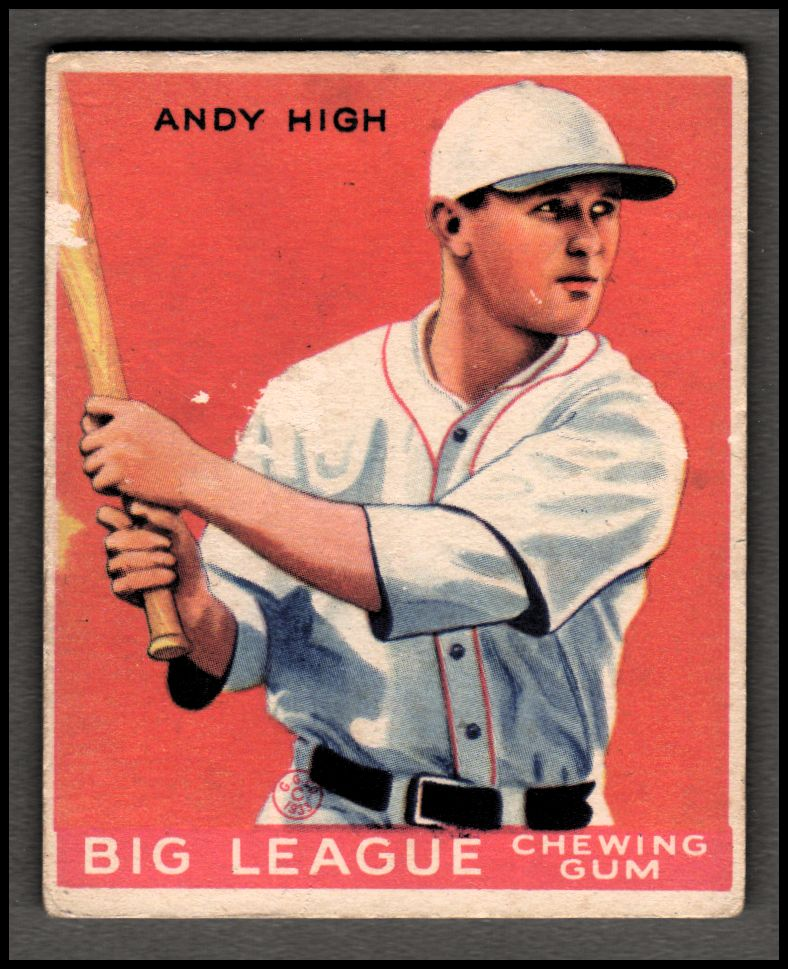 1933 Goudey #182 Andy High RC