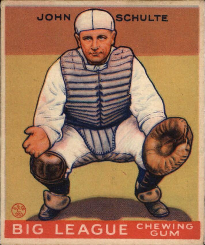 1933 Goudey #186 John Schulte RC