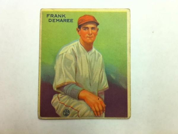 1933 Goudey #224 Frank Demaree RC