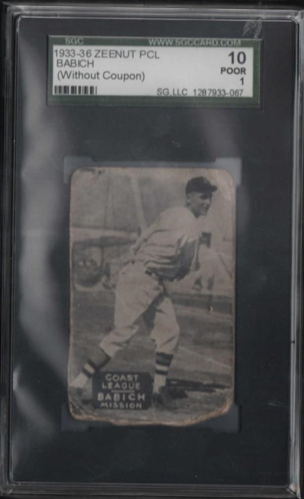 1933-36 Zeenut PCL #14 John Babich/John Babich
