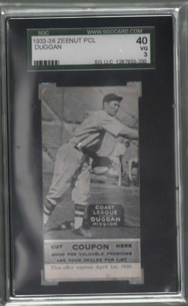 1933-36 Zeenut PCL #21A M.Duggan/Small