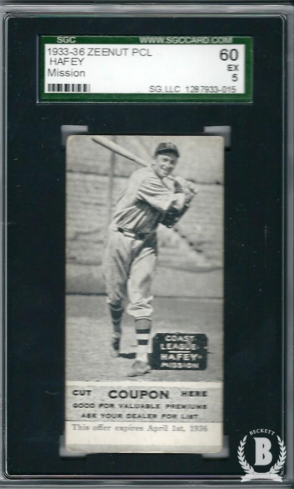1933-36 Zeenut PCL #25 Dan Hafey/Dan Hafey/Dan Hafey