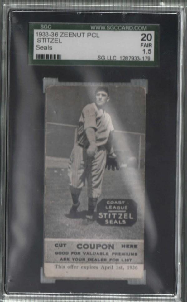 1933-36 Zeenut PCL #43 Hal Stitzel