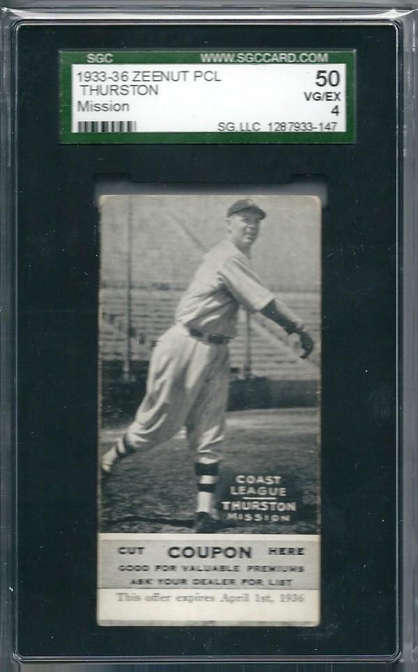 1933-36 Zeenut PCL #46 Hollis Thurston