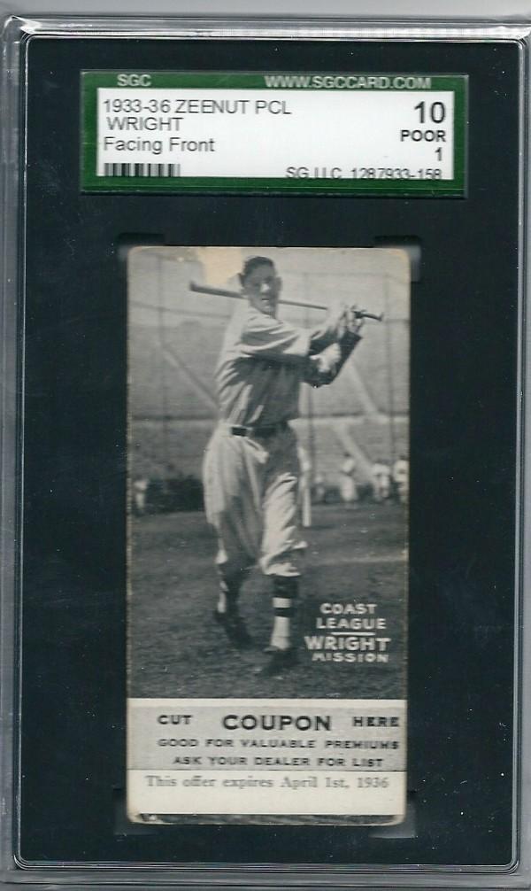 1933-36 Zeenut PCL #50 Albert Wright