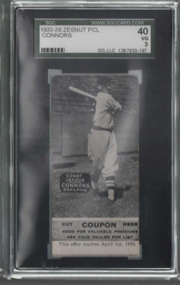 1933-36 Zeenut PCL #53 Merv Connors