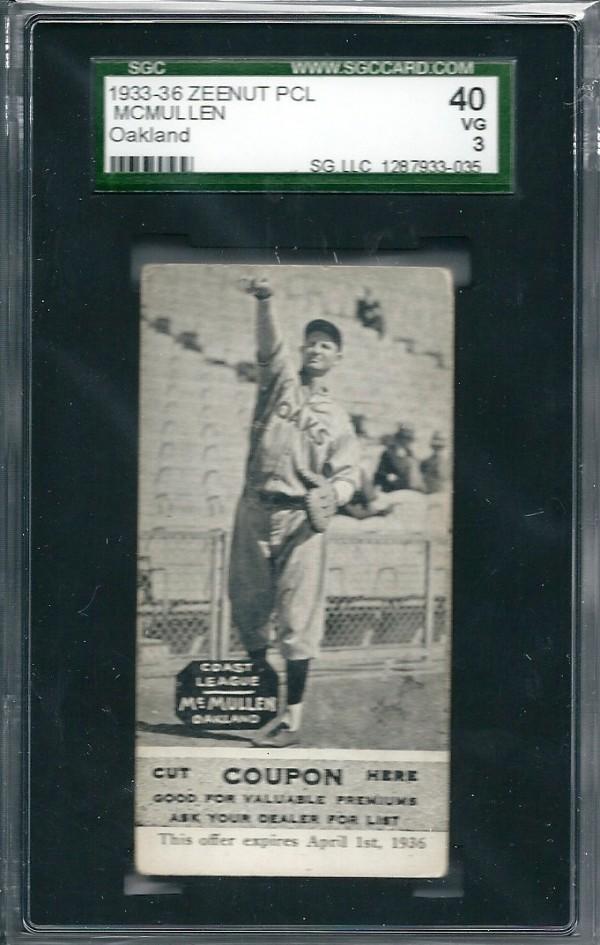 1933-36 Zeenut PCL #64 Hugh McMullen