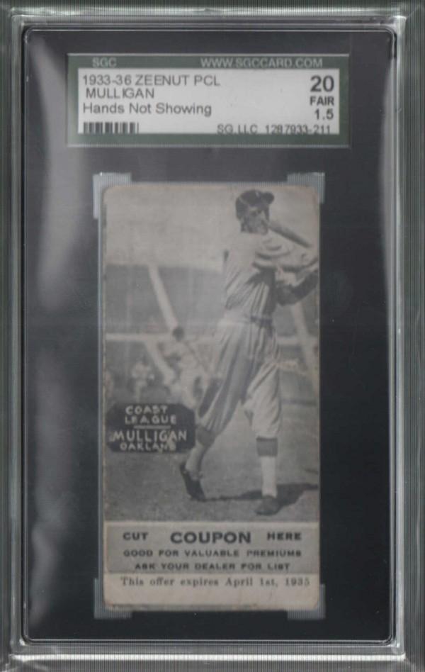 1933-36 Zeenut PCL #67 Ed Mulligan