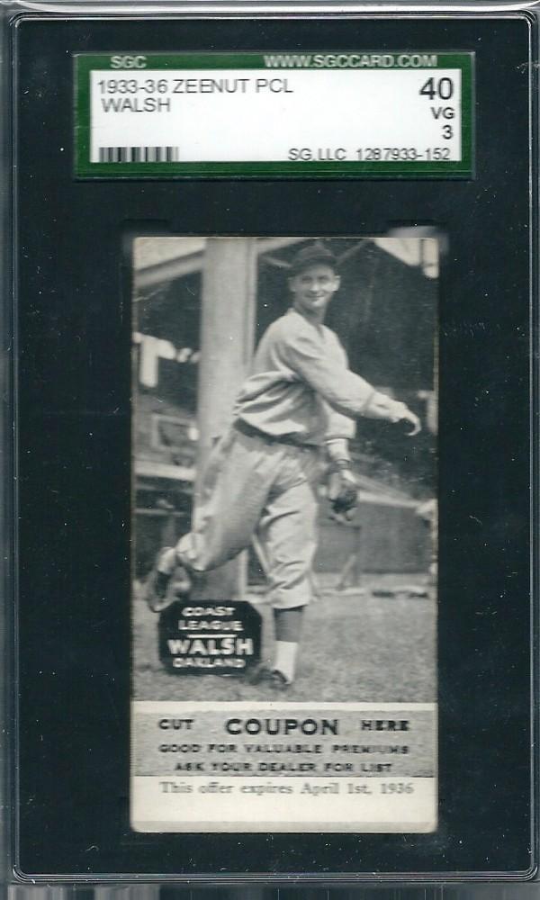 1933-36 Zeenut PCL #76 Ed Walsh