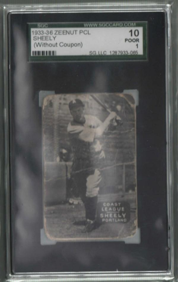 1933-36 Zeenut PCL #83 E.Sheely/E.Sheely