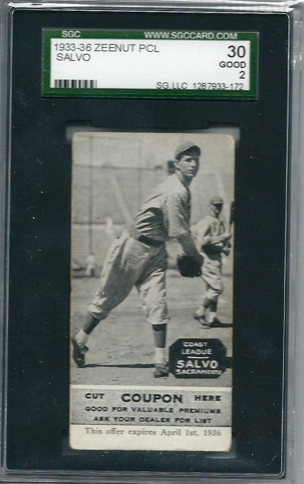 1933-36 Zeenut PCL #94 Manuel Salvo