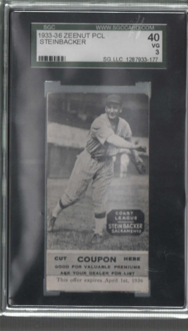 1933-36 Zeenut PCL #95 Henry Steinbacker/Henry Steinbacker