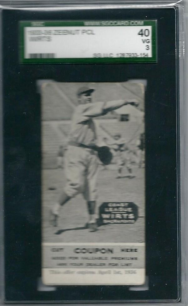1933-36 Zeenut PCL #97 Elwood Wirts/Elwood Wirts