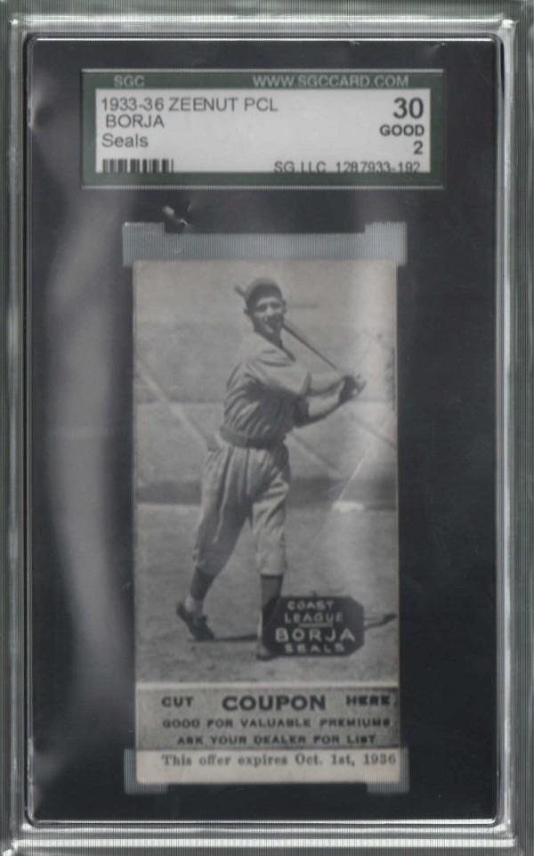 1933-36 Zeenut PCL #103 Tony Borja