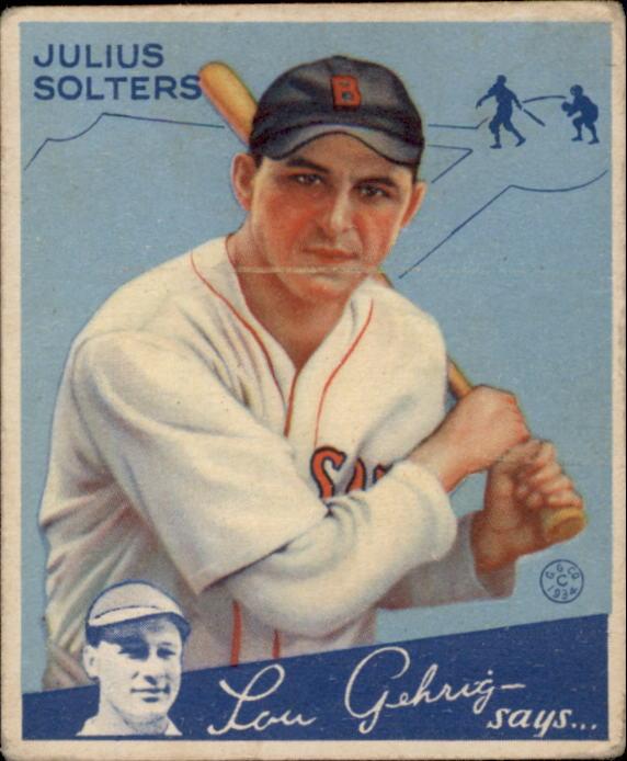 1934 Goudey #30 Julius Solters RC