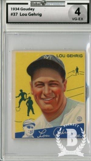 1934 Goudey #37 Lou Gehrig