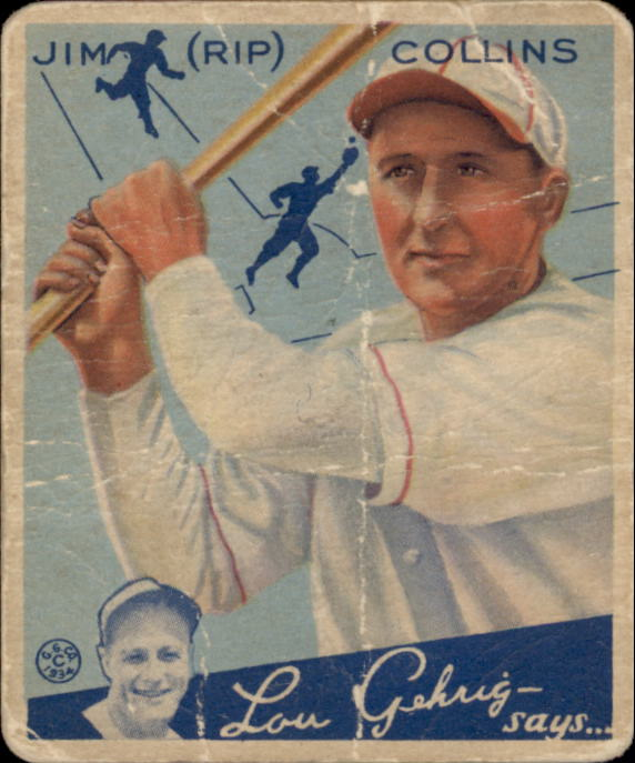 1934 Goudey #51 Rip Collins RC